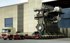 World's largest engine, for a cargo ship, produces 109,000 horsepower (80,08 MW)