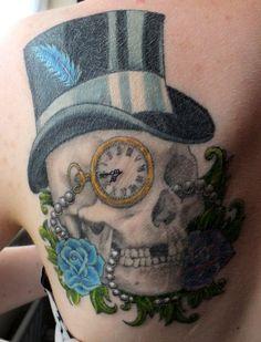 My second complete tattoo romantic skull- Annalee