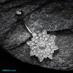 Flower Enchant Belly Button Ring