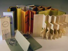 Erin Sweeney: One-sheet folded books, all based on the accordion