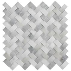 Italian Calacatta Gold Curved Herringbone Honed Marble Mosaic Tiles