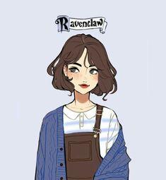 Penelope from Ravenclaw. Fanart Harry Potter, Harry Potter Drawings, Harry Potter Memes, Anime Art Girl, Art Sketchbook, Cartoon Art, Cute Drawings, Cute Art, Art Sketches