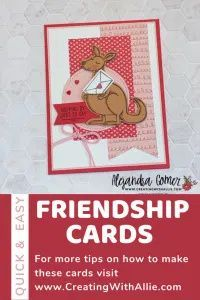 How to make three cute friendship cards using the Kangaroo & Company bundle from Stampin' UP! Friendship Cards, Stampin Up, Joy, Invitations, Crafty, Paper, Cute, Projects, How To Make
