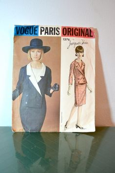 1960s Vintage Vogue Paris Original Pattern by TabbysVintageShop, $30.00