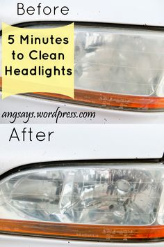 Easy 5 minute tutorial to clean your headlights using baking soda and water formed into a thick paste. Baking Soda Cleaner, Baking Soda Water, Baking Soda Uses, House Cleaning Tips, Car Cleaning, Diy Cleaning Products, Cleaning Hacks, Cleaning Solutions, Clean Foggy Headlights