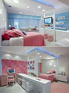 Home Decoration Online Shopping Cute Bedroom Ideas, Cute Room Decor, Girl Bedroom Designs, Room Ideas Bedroom, Awesome Bedrooms, Cool Rooms, Kids Bedroom, Bedroom Decor, Beautiful Bedrooms