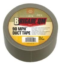 Universal repair tape with legendary uses by Soldiers! Our Army 90 MPH™ Duct Tape is the top industrial grade that is far superior to cheapie hardware store silver duct tapes. Known for high speed repairs of nearly anything imaginable, cloth duct tape sticks to almost everything. Keep a roll handy at home, in your vehicle and in your camp supplies. The Brigade 10 yard roll is convenient to pack for field use.  Item # MT4