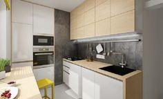 Jak na panelákovou kuchyni, aby působila moderně a vzdušně? - HomeInCube Small White Kitchens, Kitchen Room Design, Kitchen Ideas, Dog Houses, Hygge, Home Kitchens, Kitchen Cabinets, Home Decor, Design Ideas