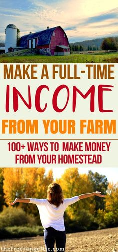 Learn how to make money from home with your homestead 100 ideas on how to create a full time income at home using your skills and land Homesteading Self Sufficiency Hom.