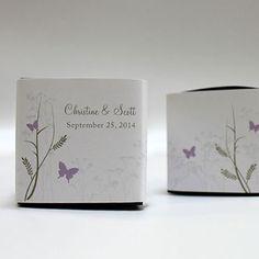 Romantic Butterfly Cube Favor Box Wrap
