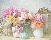 My Garden Roses, Romantic Floral Fine Art Photograph, Vintage Home Decor  Georgianna Lane