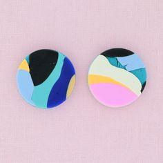 Australian Handmade Polymer Clay Earrings | Medium Studs
