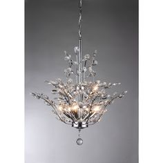 Anastasia Leaf Chandelier | Overstock.com Shopping - Great Deals on Warehouse of Tiffany Chandeliers & Pendants