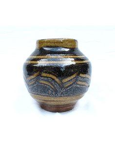 kawai kanjiro | ceramics | Wildflower grasses faceted tsubo