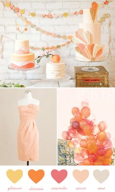 i don't normally like a peachy wedding, but i feel this was executed very well :)