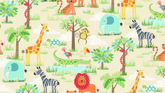 This fabric is so much fun!!! NEW from Makower UK, part of the Henley Studio Collection distributed by our friends at Andover Fabrics... it is great to be in this 'Jungle' :)