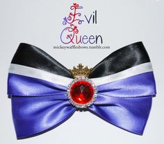 Evil Queen Hair Bow by MickeyWaffles on Etsy