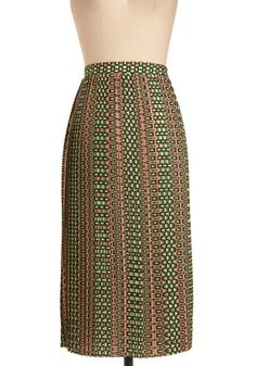 Tile Me About It Skirt, #ModCloth