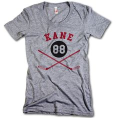 Patrick Kane NHLPA Officially Licensed Chicago Womens Scoop Neck S-XL Kane Sticks R
