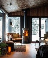 Inspiring Home Interior Cabin Style Design Home Interior, Family Room, Places To Go, Cabin, Windows, Fashion Design, Inspiration, Style, Kitchen