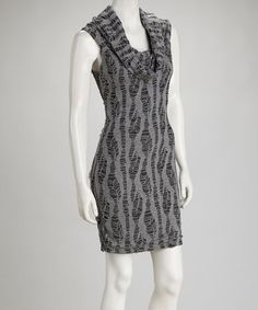 Take a look at this Gray Cowl Neck Sleeveless Dress by Samuel Dong on #zulily today!