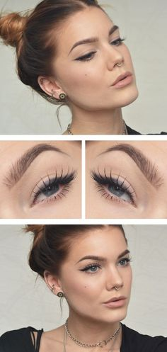 Makeup Eyebrow -                                                              I also like this eye makeup, it's not as severe as eyeliner which is probably better for my eye shape :-)