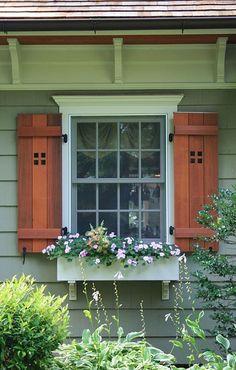 Cottage style exterior shutters decorative exterior for Cottage style exterior shutters