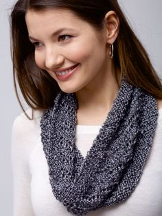 Free Pattern - Perfect for the budding lace knitter, use a basic combination of increases and decreases to create a staircase spiral pattern. #Knit in Patons Metallic