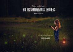 Vinde após mim, e eu vos farei pescadores de homens. Mateus 4:19  #maravilhosopai #fé #faith #godbless #pescador #inspiração