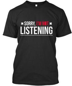 Sorry Tshirt Black T-Shirt Front