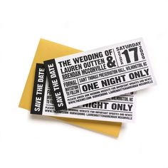 "Really creative ""Save the Date"" ticket"