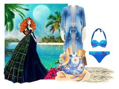 """""""Merida Sheds Her Gown For A Swim"""" by sjlew ❤ liked on Polyvore featuring Athena Procopiou, Été Swim and Gottex"""