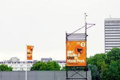 BBC R2 Live in Hyde Park event banner by Red Stone