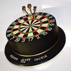 180 Dart Board Cake - by krumblies @ CakesDecor.com - cake decorating website