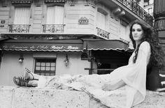 Carla Coulson black and white portrait paris