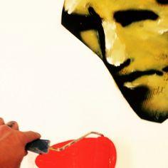 #vetkuif #hommage #herman brood aan het schilderen