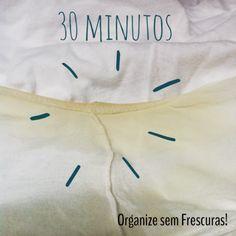 Organize sem Frescuras | Rafaela Oliveira » Arquivos » Dica testada: passo a passo de como tirar mancha amarelada de desodorante nas roupas