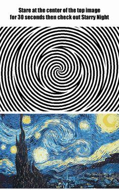 30 saniyede hipnotize olup ardından ''Yıldızlı Gece'' tablosuna bakalım bakalım orada mıyız.