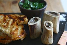 10 Recipes Perfect for a Grown-Up Halloween Party: Roasted Bone Marrow With Parsley Salad from A Cozy Kitchen