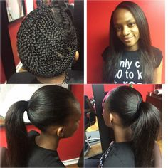 @nynystyles Great Sew-in And That Braid Pattern is No Joke - Black Hair Information Community