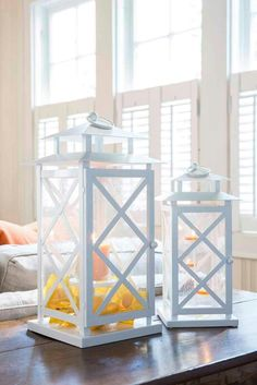 Lanterns aren't just for outside - they're great for making a statement indoors too! Tea Lights, Wicker, Decorative Boxes, Indoor, Instagram Posts, How To Make, Candles, Decorating, Home Decor