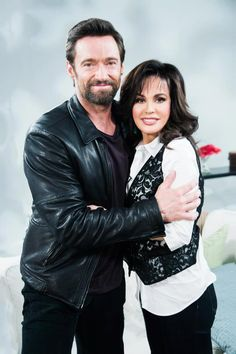 Hugh Jackman and Marie Osmond