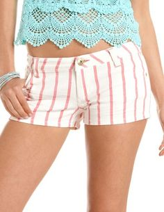 Dollhouse Striped Denim Short: Charlotte Russe #smpliving