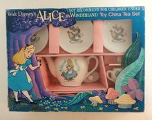 """I had this tea set as a child! Ever the AIW collector, WAY before it was """"in"""" to like Alice! People weren't obsessed with her in the 80's like I was."""