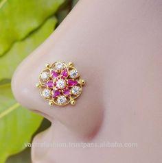 925 Sterling Silver Indian Nose Ring Pircing