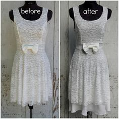 How to Lengthen a Dress with Chiffon Underlay.... This is the coolest tutorial. For those of us that don't like short dresses, this will greatly expand our wardrobe choices!