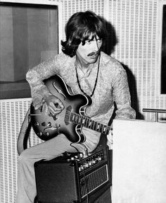 John Lennon Guitar, The Fab Four, Epiphone, George Harrison, The Beatles, Rock N Roll, Style Icons, Studio, My Love