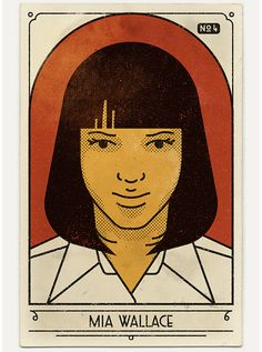 """Vintage-Inspired Portraits Pay Tribute to 20th Anniversary of """"Pulp Fiction"""" - My Modern Met"""