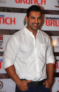 Indian Bollywood actor John Abraham poses during The Hindustan Times Brunch event in Mumbai.