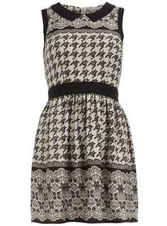 9aca7baf9614 Petite dogstooth collar dress Collar Dress